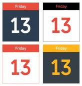 Friday 13th calendar sheets set — Stock Vector