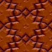 Seamless chocolate floral pattern — Stock Photo