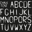 Chalk font (alphabet in chalk style) — Stock Vector #66143909