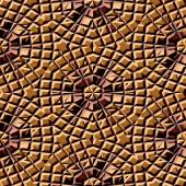 Seamless pattern of brown lightly damaged tiles — Stock Photo
