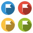 Collection of 4 isolated flat colorful buttons (icons) for point — Stock Vector #68111039