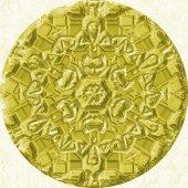 Gold (yellow) jewelled (diamond) circle — Stock Photo