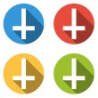 Collection of 4 isolated flat buttons (icons) with Cross of Sain — Stock Vector #70439269