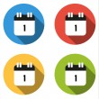 Collection of 4 isolated flat buttons (icons) for number 1 — Stock Vector #70439295