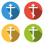 Collection of 4 isolated flat l buttons (icons) for orthodox cro — Stockvector