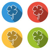 4 隔离平面按钮 (图标) 的四个叶片 (sha 的集合 — 图库矢量图片