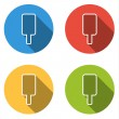 Collection of 4 isolated flat buttons for ice cream lolly (silho — Stock Vector #74016961