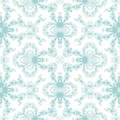 Seamless fractal blue pattern on white background — Stock Photo