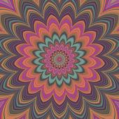 Plein écran généré symétrique psychédélique fleur — Photo