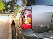 Broken car taillight — Stock Photo