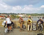 Bridge Band at Charles Bridge — Stock Photo