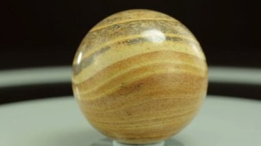 Rotating picture jasper ball — Stock Video