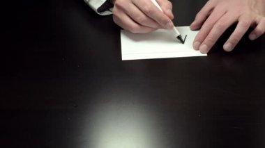 Hands write ASAP — Stock Video