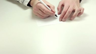 Writing Buy on note paper — Stock Video