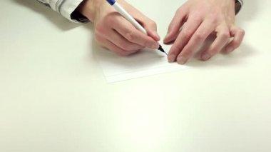 メモ用紙に書いていただきありがとうございます — ストックビデオ