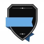 Empty shield label template — ストックベクタ