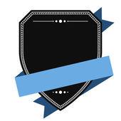 Empty shield label template — Stock Vector