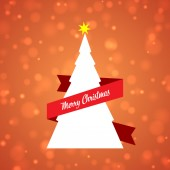 Abstract background with christmas tree — Stock Vector