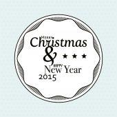 Wesołych świąt i szczęśliwego nowego roku tło — Wektor stockowy