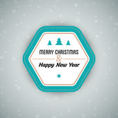 Merry Christmas background with badge — Cтоковый вектор