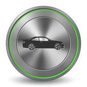 Car 14, Metal Icon, Button — Stock vektor
