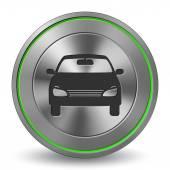 Car 15, Metal Icon, Button — Stock Vector