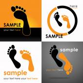 Footprints Logo — Stock Vector