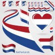 Set of Vector Flag of Netherlands — Stock Vector #59579081