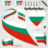 Set of Vector Flag of Bulgaria — Stock Vector