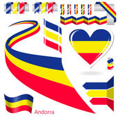 Set of Vector Flag of Andorra — Stock Vector