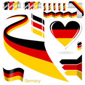 Set of Vector Flag of Germany — Wektor stockowy