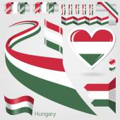 Set of Vector Flag of Hungary — Stock Vector