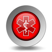 Medical Symbol. Emergency Icons Red Set — Stock Vector