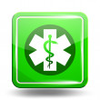 Medical Icon. Emergency Symbol. Green Set — Stock Vector #66489483