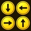 ������, ������: Directional Arrows Yellow Signs