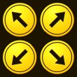 Постер, плакат: Directional Arrows Yellow Signs