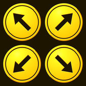 Directional Arrows Yellow Signs — Stok Vektör