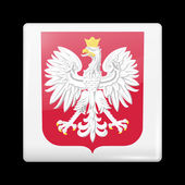 Flag of Poland. Glossy Icons — Stock Vector