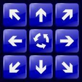 Arrow. Glass Icons — Vector de stock