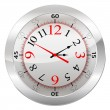 Analog Clock Isolated on a White Background — Stock Vector #78123234