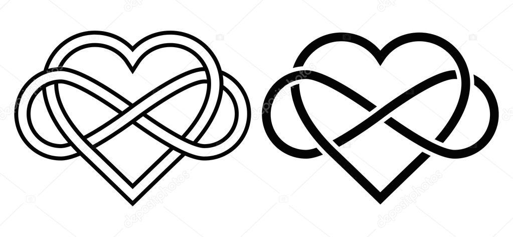 Coeur entrelac avec le signe de l 39 infini image vectorielle simeon vd 98406424 - Le signe de l infini ...