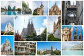 Set of Spanish attractions — Stock Photo