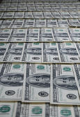 American dollars pile as background — Stock Photo