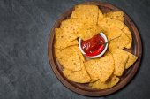 Fresh salsa  dips with nachos chips — Stock Photo