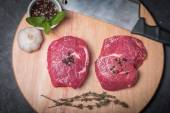 Raw fresh marbled beef Steak — Foto Stock
