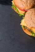 Closeup of classic burger — Stock Photo