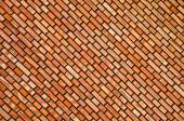 New wall of building with colored bricks — Foto Stock