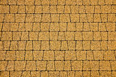 The pavement with yellow cobblestones — 图库照片