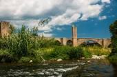 Gothic bridge in Besalu — Stock Photo