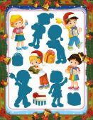 рождественские мероприятия, дети — Стоковое фото